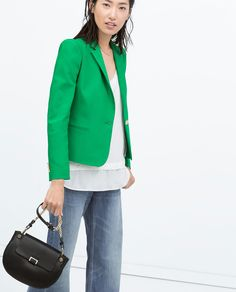 DOUBLECLOTH BLAZER WITH GOLD BUTTON-Woman-NEW THIS WEEK | ZARA United States