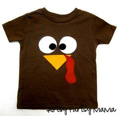 DIY Turkey shirt - making this for my dad on Thanksgiving: I used to call him Turkey Man when I was little :-)