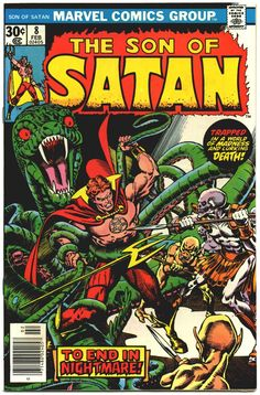 Son of Satan #8 | Marvel Comics Group | February 1977 | Cover by Gil Kane (pencils), Ernie Chan (inks), Danny Crespi (lettering)