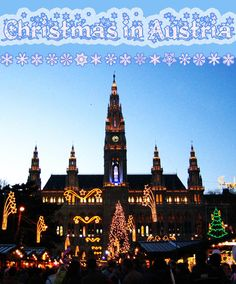 The time from late November to the end of the year has a very special meaning in Austria. Visit Austria's Christmas markets, try some Gluehwein and enjoy the spirit of Christmas. #travel #Christmas