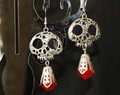 """boucles d'oreilles """"mexican skull"""" des jours de fêtes : Boucles d'oreille par itzalak-joko"""