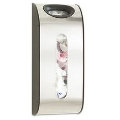 Store and dispense plastic grocery bags with our beautifully crafted Stainless Steel Grocery Bag Holder. Hang it inside a cabinet door, on a wall or on a door. Insert used grocery bags into the opening at the top. When you're ready, the dispenser slot makes the bags easy to access.