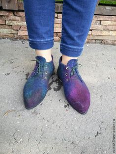 Купить Ботинки валяные демисезонные - комбинированный, ботинки ручной работы, демисезонная обувь, валяная обувь