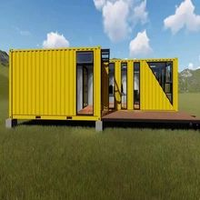Prefab Log Cabins, Prefabricated Houses, Prefab Homes, 40ft Container, Container Office, Container House Design, Farming Technology, Home Technology, Movable House
