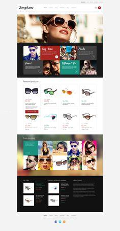 WooCommerce Theme , Sunglasses - Responsive
