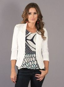 White Keel Jacket by One Grey Day  Perfect to add to Any Spring Outfit!!!