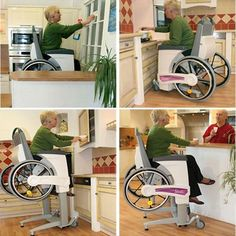 Being vertically-challenged already, this is the wheelchair I'd want IF I ever need one (and I'm hoping I never will).