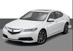 2015 Acura TLX White Sedan front angled view exterior For more info Call: 1-855-383-1171