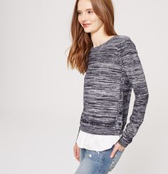 Marled Two-In-One Sweater   Loft