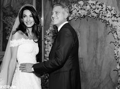 George Clooney and Amal Alamuddin's Wedding Photos - Amal & George: So in Love from #InStyle
