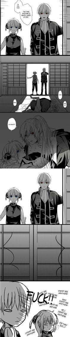 What manga is this? Anime Couples Manga, Cute Anime Couples, Manga Anime, Katsura Kotaro, Okikagu Doujinshi, Gintama, Manga Story, Fairy Tail Ships, Anime Ships