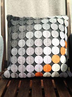 Cushion in Spot Applique Camira Blazer fabric