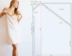 Vestido lencero cero residuos, si quieres aprender la técnica Zero Waste comienza con este sencillo patrón.