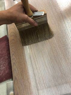 Stripping is a lot of hard, gross, goopy work and no one likes to do it. I recently created this beautiful grey stain look without stripping to raw wood. Gray Stained Cabinets, Painting Oak Cabinets, Staining Cabinets, Old Cabinets, Bathroom Cabinets, Cabinet Stain, Cupboards, Stripping Furniture, Paint Furniture