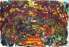 Claude Monet-Path under the Rose Trellises Giverny-1920-22