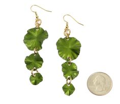 New Attractive Annodized Aluminum Lime Green Lily Pad Earrings Presented by #Amazon #10thAnniversary http://www.amazon.com/dp/B006ZC9WD8
