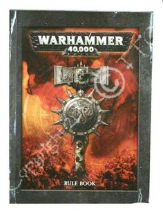 Warhammer 40,000 Rulebook by Games Workshop http://www.amazon.co.uk/dp/1841548758/ref=cm_sw_r_pi_dp_UoIUvb1XRPBDW