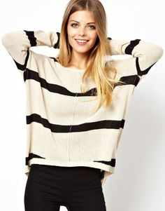 Vero Moda | Vero Moda Striped Knit Top at ASOS