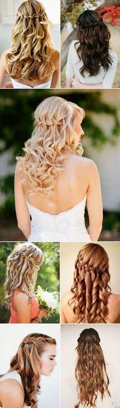 Fashion And Style: 20 Swoonworthy Long Boho Bridal Hairstyles-Waterfall Braids