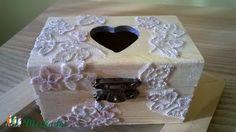 Csipkés szeretet doboz - esküvői pénzátadó doboz (Csipkelodo) - Meska.hu