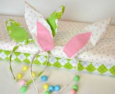 #DIY Bunny Ears - perfect craft for a baby or toddler for #Easter!
