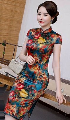 Cheongsam, High Neck Dress, Dresses, Fashion, Turtleneck Dress, Vestidos, Moda, Fashion Styles, Dress
