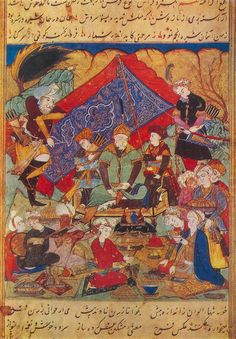 Timur feasts in the gardens of Samarkand 1402