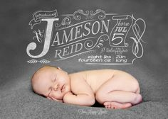 Birth announcement - design + photography by Mary at Two Happy Lambs
