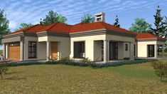 Beautiful House Plans, Beautiful Homes, Flat Roof House, Building Costs, Guest Toilet, My House Plans, Guest Bed, Home Collections, All Design