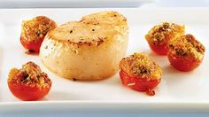 Pétoncles poêlés et tomates grillées au pesto | Recettes IGA
