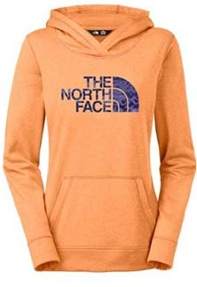 The North Face Leopard Fave Pullover Hoodie for Women in Impact Orange Heather