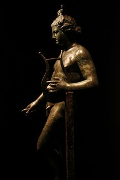 Bronze Apollo with Lyre. Pompeii, House of Apollo