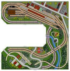 Ho Model Trains, Ho Trains, Train Miniature, Model Railway Track Plans, Standard Gauge, Model Train Layouts, Outdoor Toys, Train Tracks, Layout Inspiration