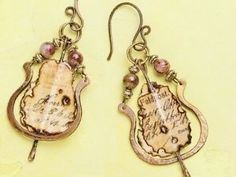 Mixed-Media Jewelry: Make Ephemera Earrings Using Resin, Paper, Wire and More - Jewelry Making Daily - Blogs - Jewelry Making Daily