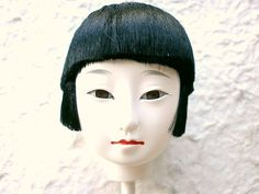 Japanese Doll Head Hina Matsuri Girl S76 by VintageFromJapan, $15.00