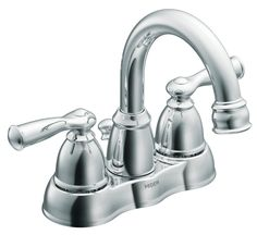 Moen CA84913 Double Handle Centerset Bathroom Faucet from the Banbury Collection, Chrome - Touch On Bathroom Sink Faucets - Amazon.com