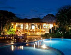 The Cala Moresca restaurant at Cala Luna.  Costa Rica.    http://destinos-blog.com