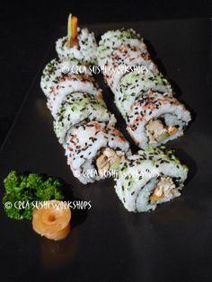 Urimaki sushi by Crea Sushi Workshops. https://www.facebook.com/crea.sushiworkshops?ref=hl