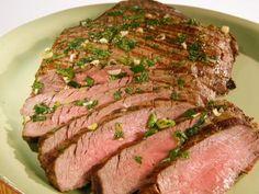 Garlic and Herb Steak Marinade recipe from Kitchen Sink via Food Network Porterhouse Steak Recipe, Steak Marinade Recipes, Grilling Recipes, Tailgating Recipes, Food Network Recipes, Food Processor Recipes, Skirt Steak, Fresh Garlic, Summer Recipes