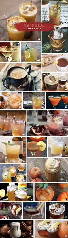 25 Fall Cocktails- Perfect for your next dinner party.