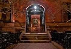 """Illuminated Entry.""  Commonwealth Avenue, Boston."