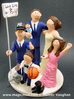 Custom Made Blended Family Wedding Cake TopperMixed Topper Step