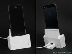 LEGO iPhone 5 Charging Dock by bruceywan, via Flickr