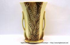 McCoy Wheat Vase by ogdenlane on Etsy, $90.00