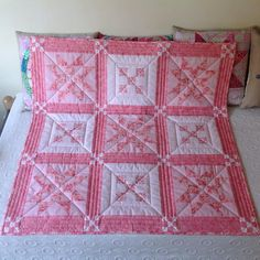 """""""Quilt Sofia finished #ohiostar#quilting#handmade#aurifil #9patch  #babyquilt"""""""