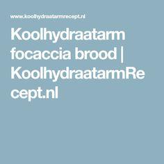 Koolhydraatarm focaccia brood | KoolhydraatarmRecept.nl