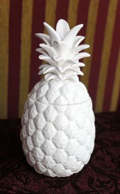 Candle in ceramic pineapple holder with leaf by AnythingDiscovered, $16.00