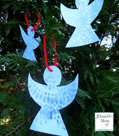 Christmas Ornaments- Painted Angels Made with Doilies