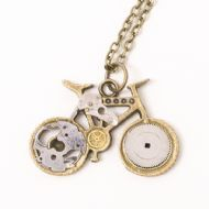 Steampunk Bicycle Necklace