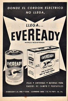 Eveready advertising 1960`s